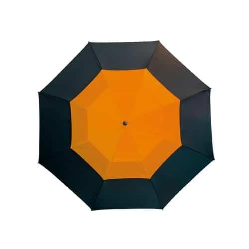 Image of   Golfparaply orange dobbelt skærm lige skaft - Herkules