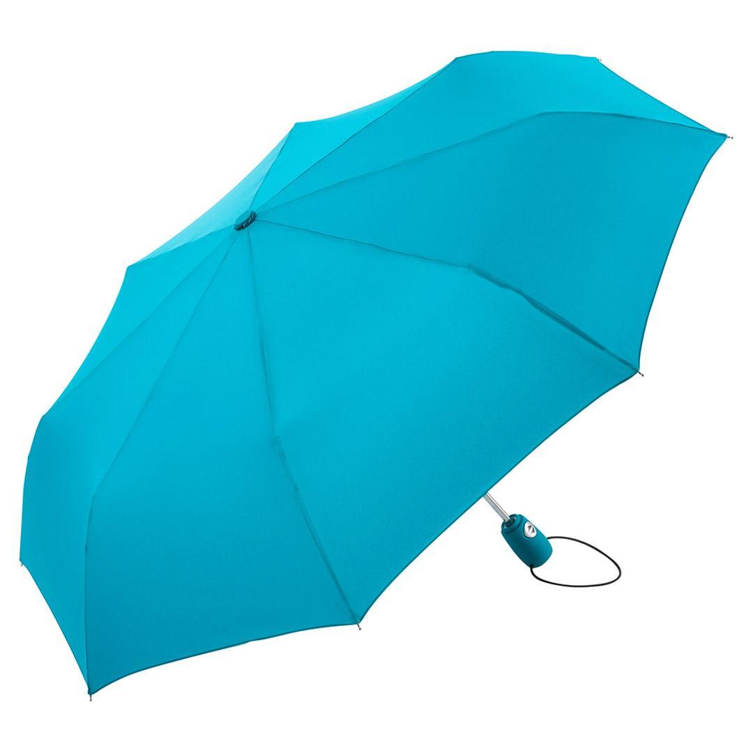 Image of Stormsikker paraply benzin farvet taskeparaply - Hugo