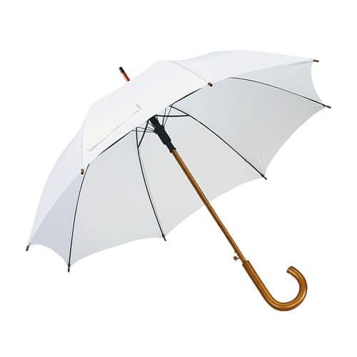 Image of   Hvid paraply træhåndtag vælg 10 forskellige her - Buddy