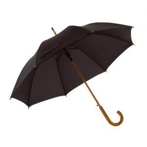 sort paraply træhåndtag