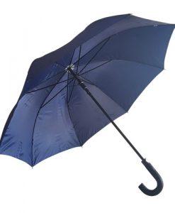 stor blå paraply