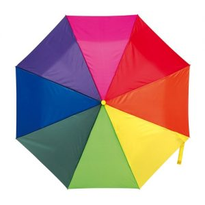 Billig regnbue taskeparaply