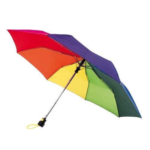 Image of   Billig regnbue taskeparaply køb billigst her - Sofia
