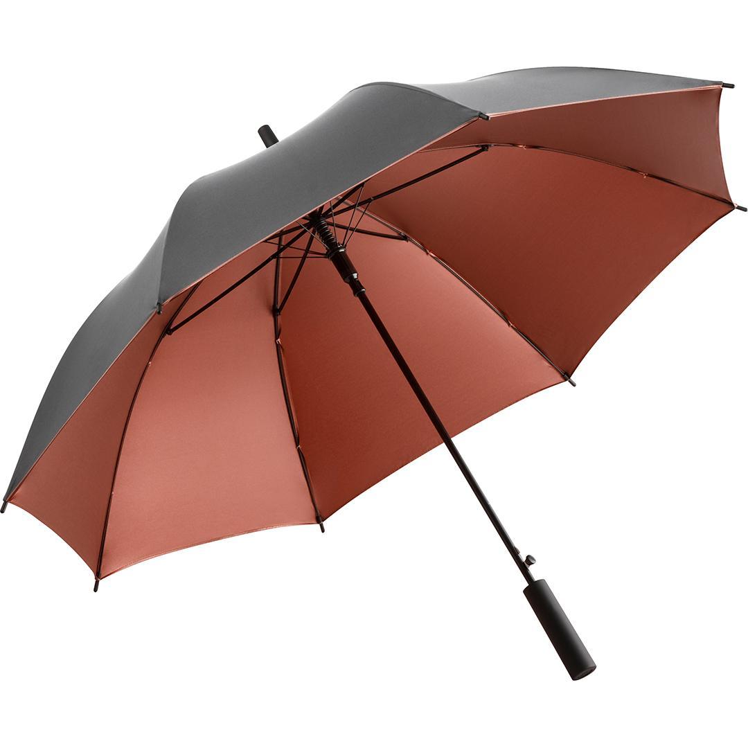 Image of   Høj kvalitets paraply i kobber & grå - Luxury