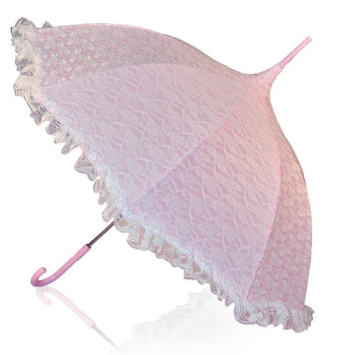 Image of   God gave til mor rosa paraply med flæser og pynt gratis fragt