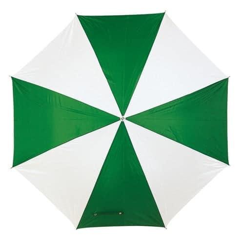 Image of   Grøn & hvid paraply diameter på 103 cm - Disco