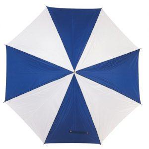 hvid & blå paraply