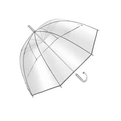gennemsigtig paraply