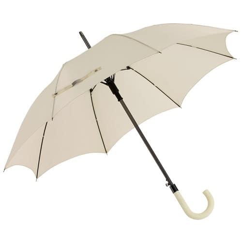 stor beige paraply