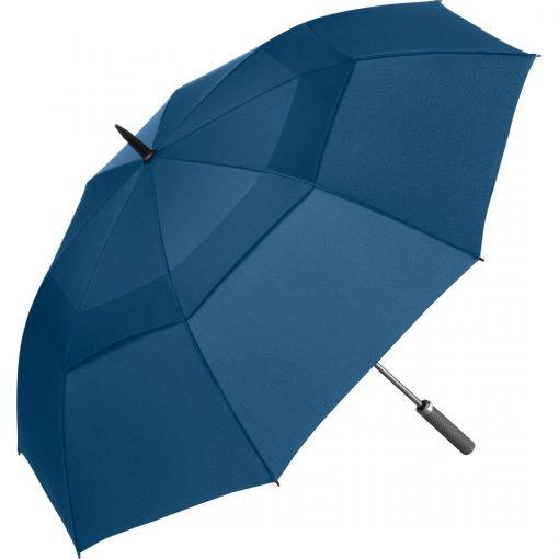 blå golf paraply