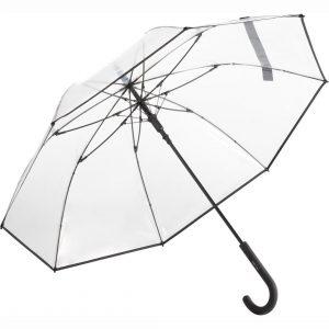 Gennemsigtig sort paraply