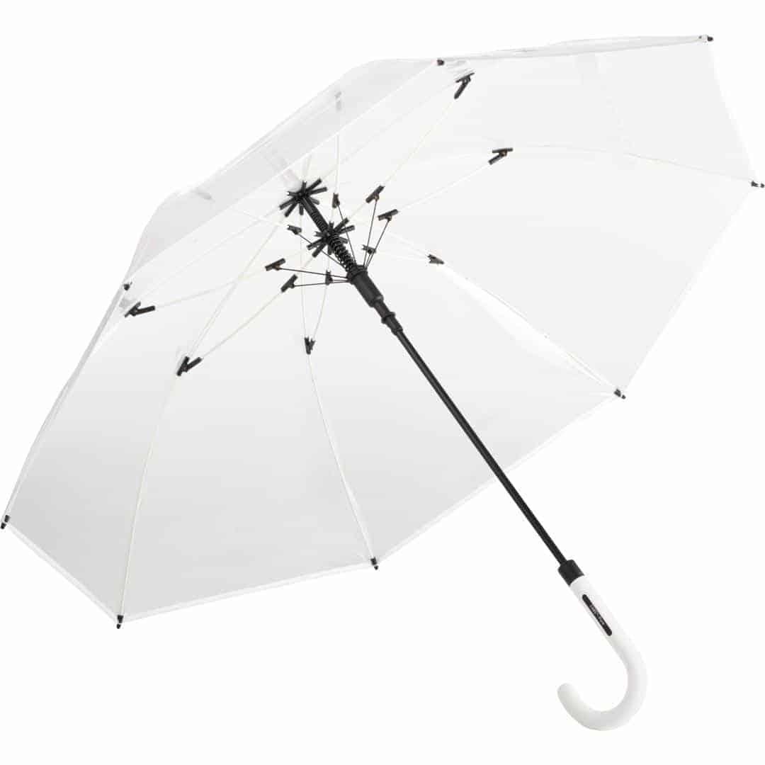Image of   Hvid gennemsigtig paraply stor diameter - Nevada