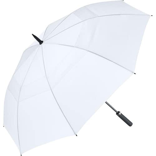 Image of   Hvid golf paraply med stor skærm på 133 cm - Nicholas