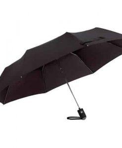 kompakt sort paraply