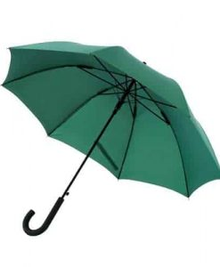 Stor mørke grøn paraply