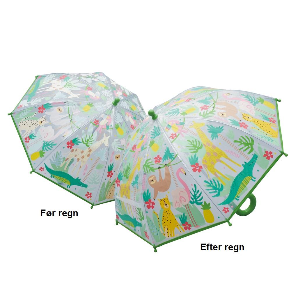 Image of   Børneparaply til pige og drenge her - I junglen