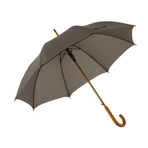 Image of   Grå stok paraply lyst træskaft - Købes her 145 kr - Oscar