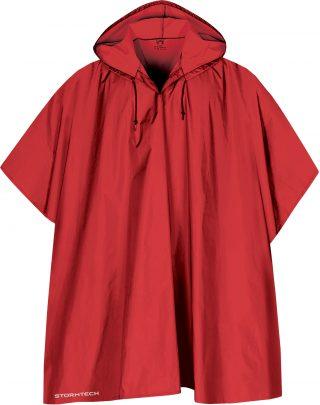 Rødt poncho