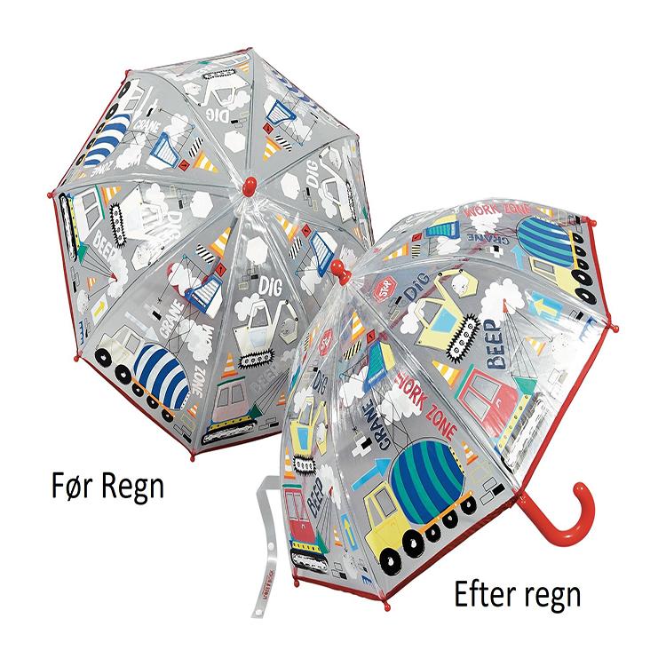 Image of Børne paraply farve skiftende bygninger og maskiner - Fun4Rain
