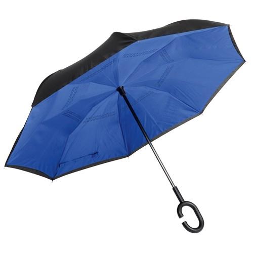 omvendt paraply blå