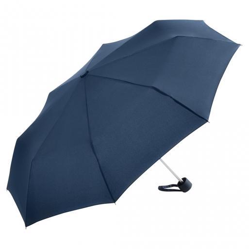 Image of Kompakt paraplyer her navy blå diameter 90 cm - Karla