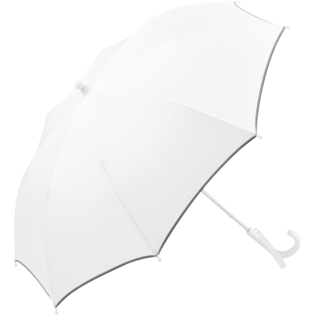 Image of   En børneparaply hvid der sikrer barnet mod al slags vejr - Alma