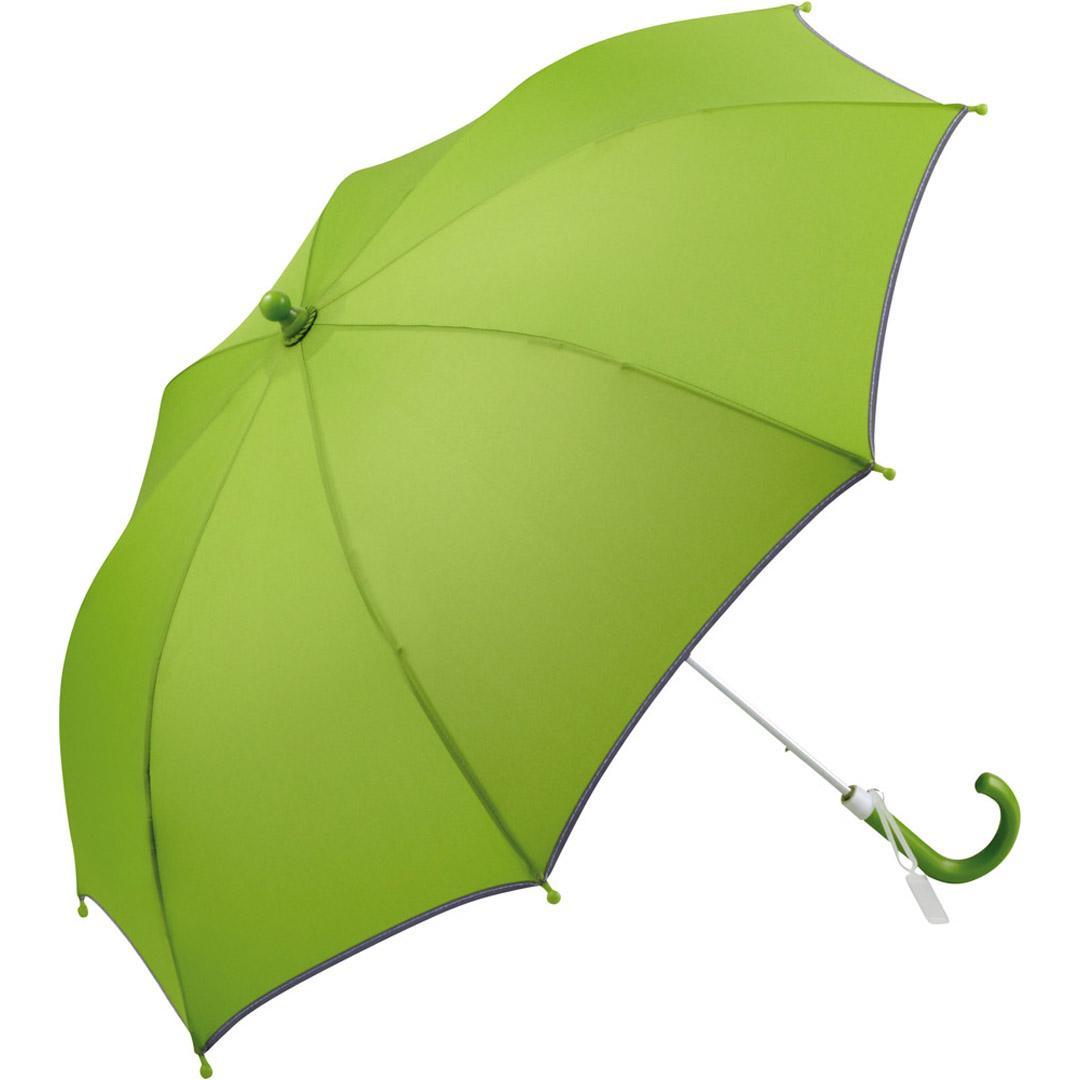 Image of   Børneparaply grøn beskytter godt mod regn - Alma