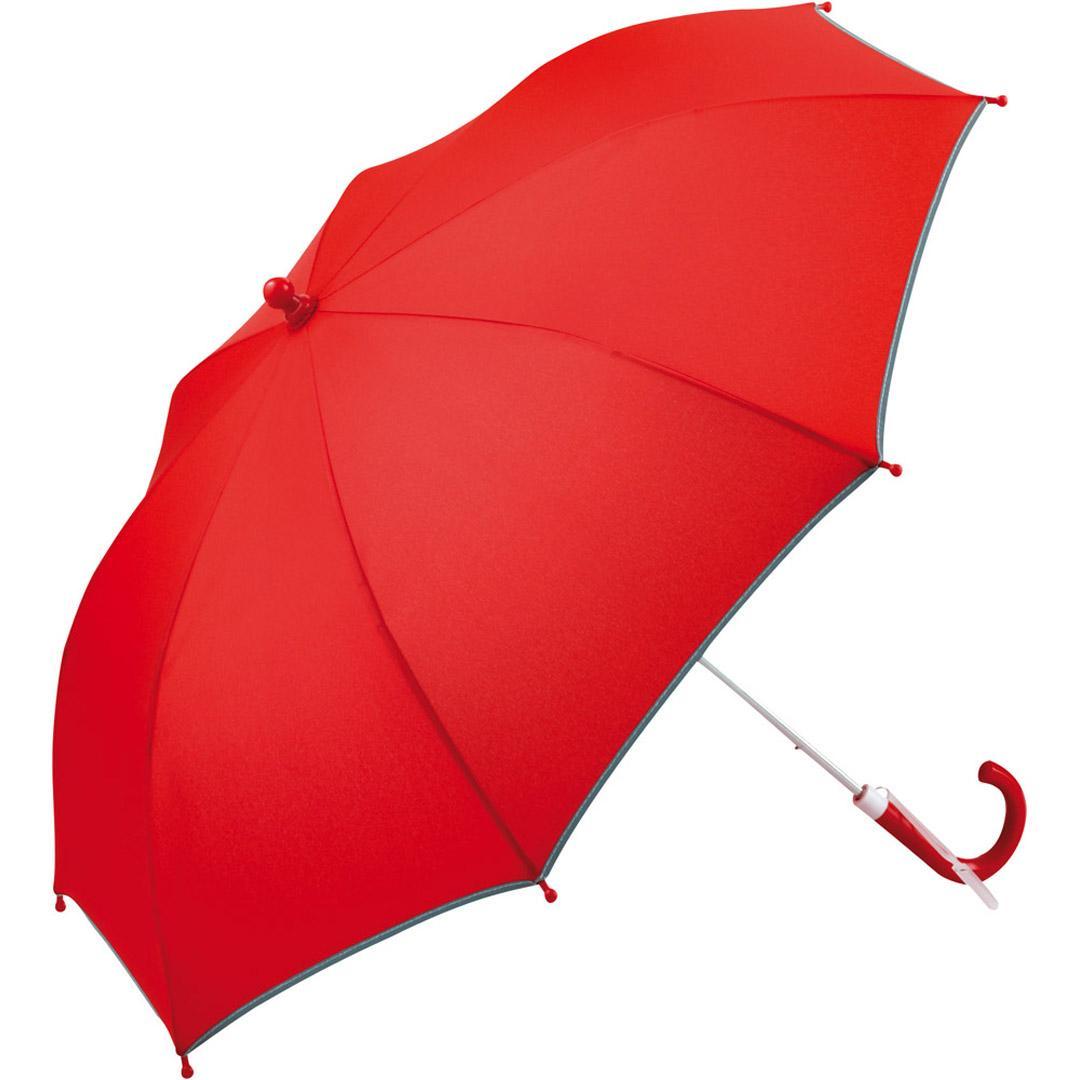 Image of Børneparaply rød med reflekser på - Alma
