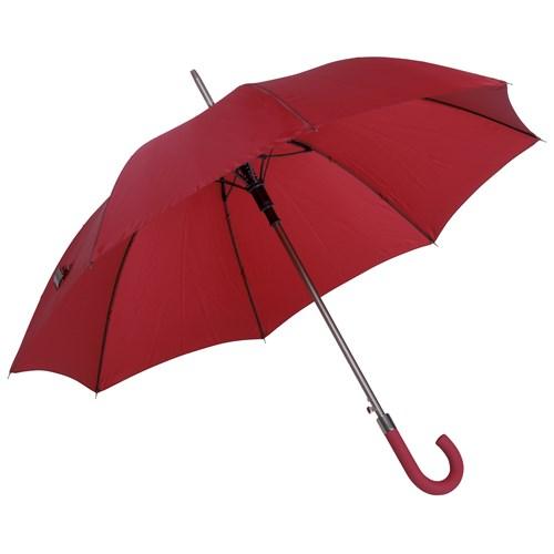 Image of   Automatisk mørkerød paraply med stor diameter model Jubii