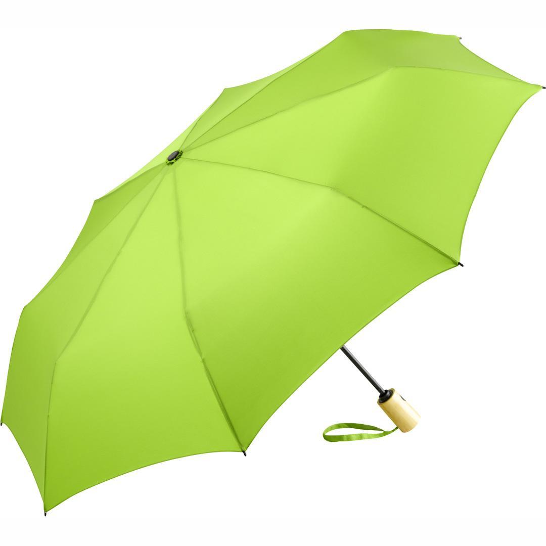 Image of   Bæredygtig lysegrøn paraply med gratis fragt - Earth