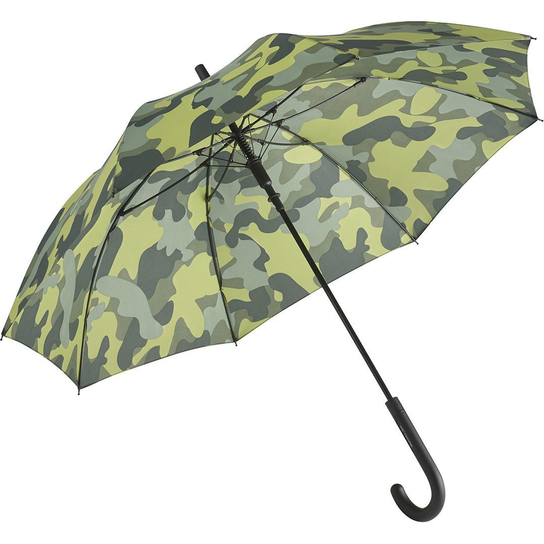 Image of   Camouflage paraply grøn med stor diameter 105 cm - Camouflage grøn