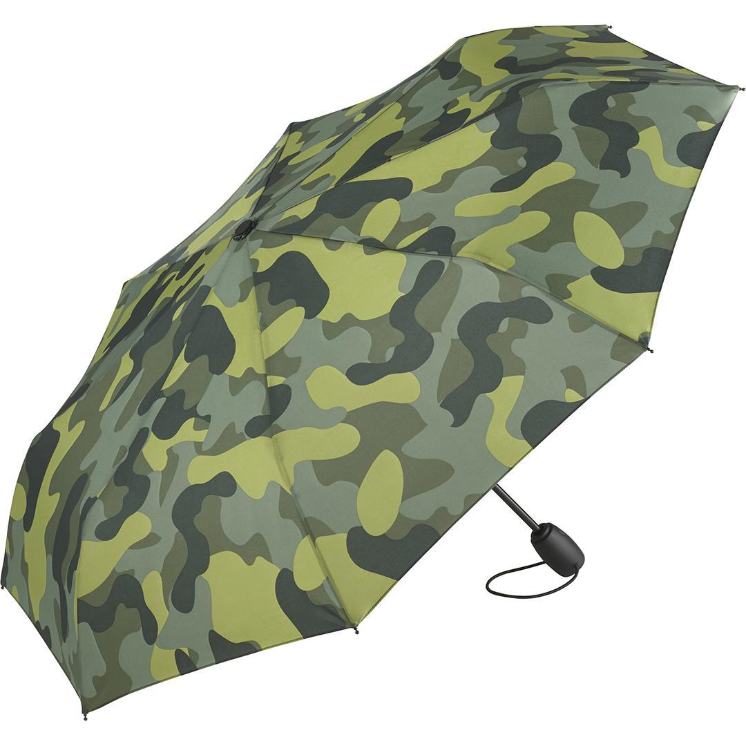 Image of   Camouflage taskeparaply grøn med stor diameter 97 cm