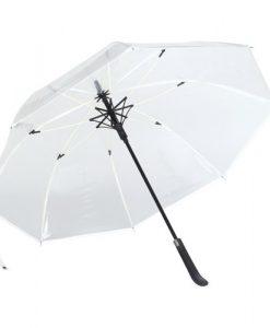 Hvid transparent paraply