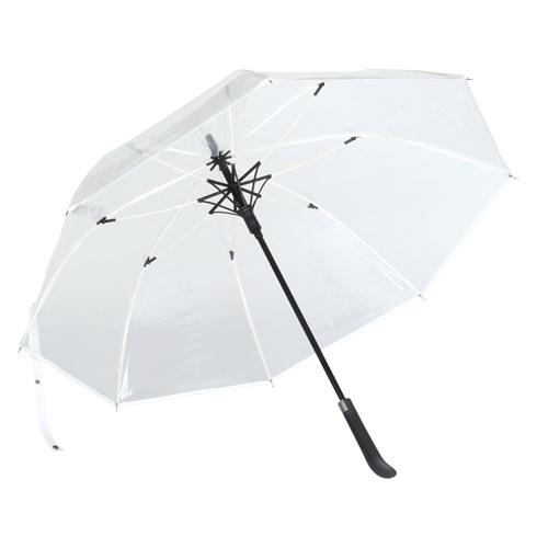 Image of   Hvid transparent paraply med gratis GLS fragt - Tennessee