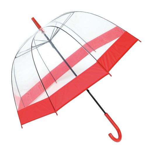 gennemsigtig fastelavn rød paraply