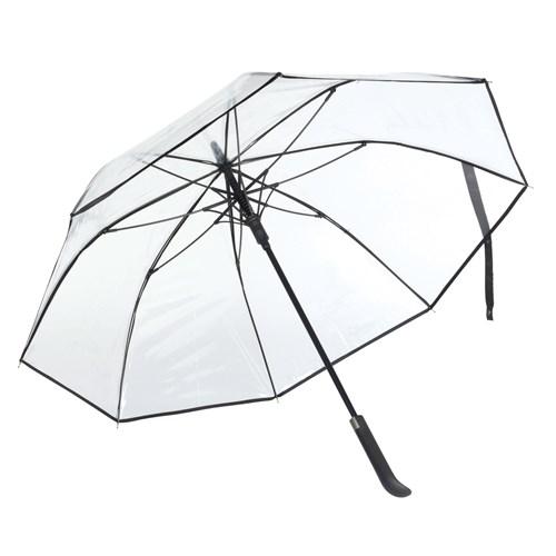 Image of   Gennemsigtige paraplyer her i sort med gratis levering - Tennessee