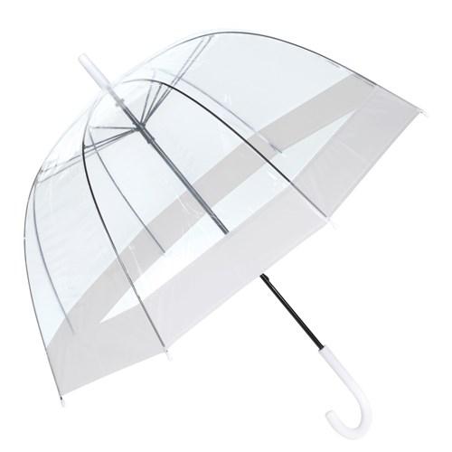Image of   Hvid retro gennemsigtig paraply med gratis GLS fragt - Elias