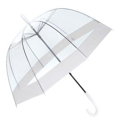 transparent fastelavn hvid paraply