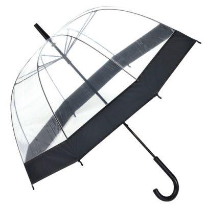 gennemsigtig paraply sort