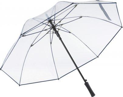 gennemsigtig blå paraply