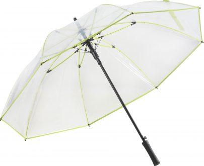 gennemsigtig grøn paraply