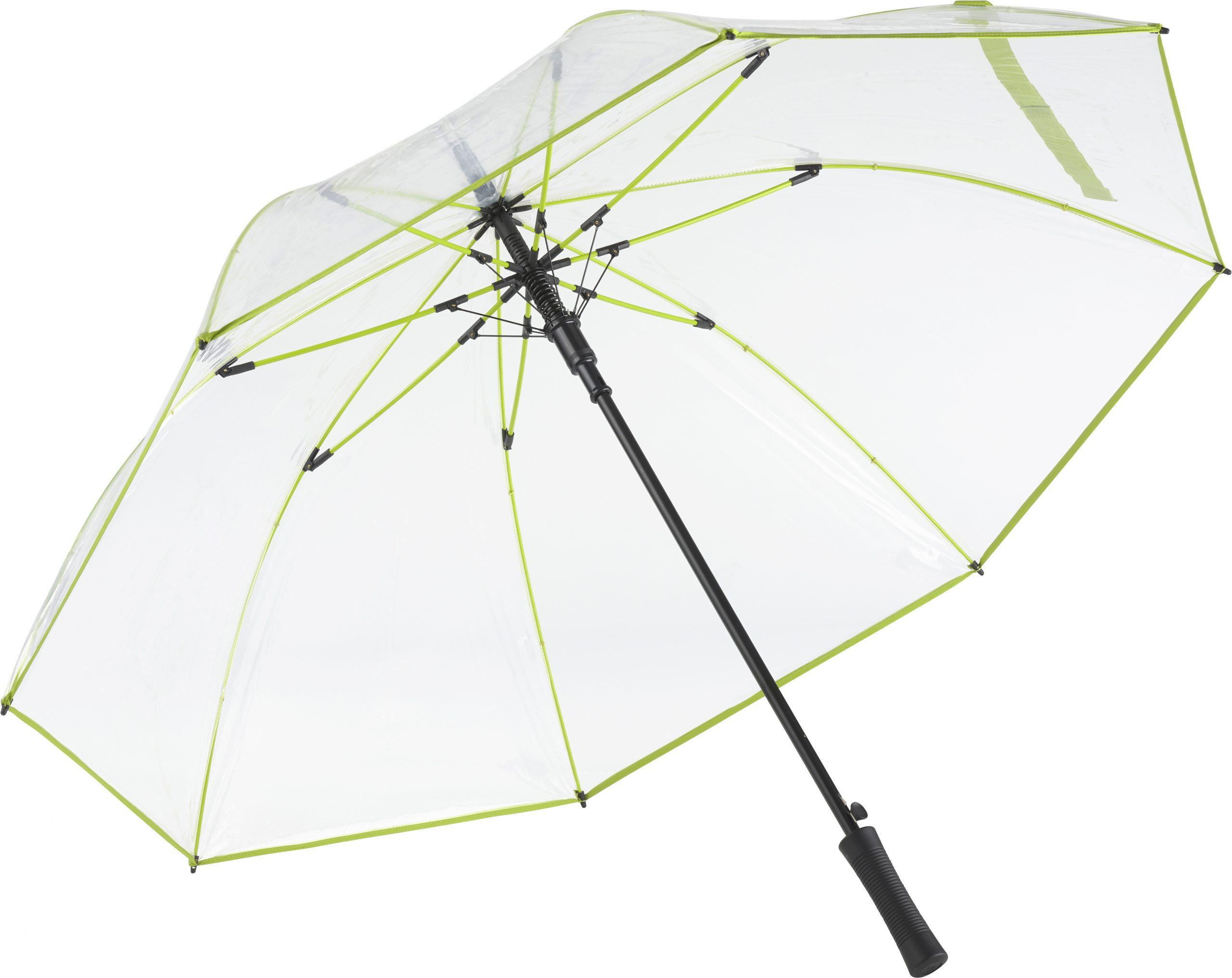 Transparent lime paraply med gratis GLS fragt - Philippa