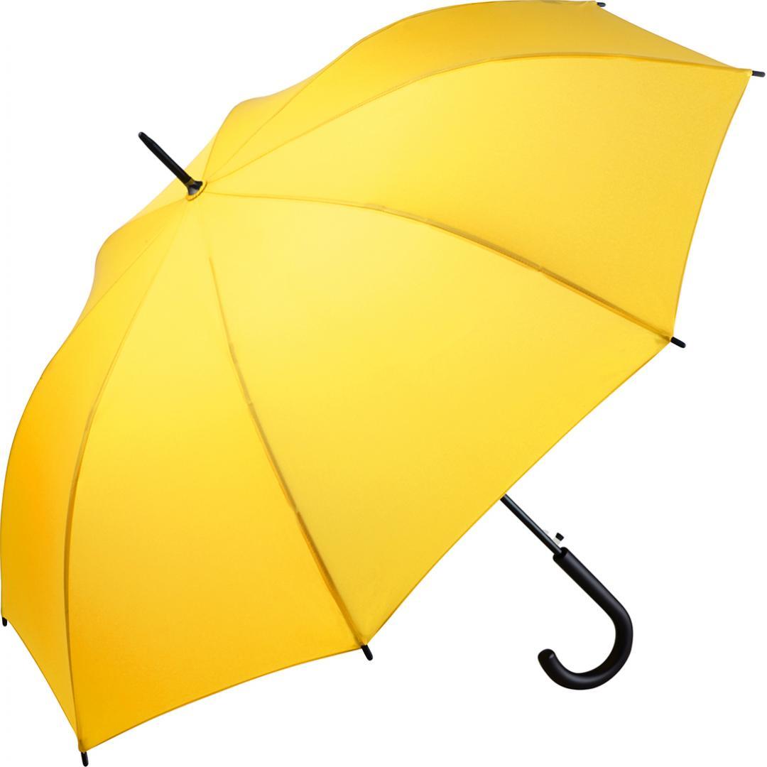 Billig gul paraply med stor skærm på 100 cm - Agnes